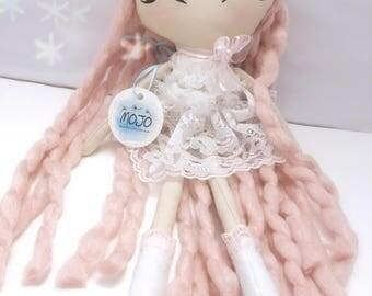 Rag doll / handmade doll / heirloom doll / fabric doll / princess peachy / art doll