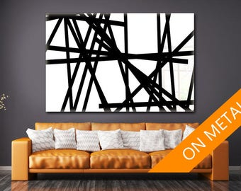 Black White art, Abstract painting, Abstract art sign, Metal decor sign, Abstract art, Metal Print, Metal decor Art, Metal wall art, Metal