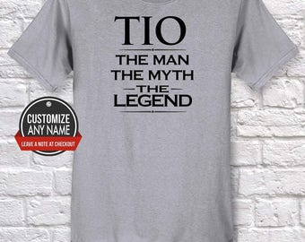 Tio The Man The Myth The Legend, Grandpa Gift, Tio Birthday, Father's Day, Tio Tshirt, Tio Gift Idea, Baby Shower, Pregnancy