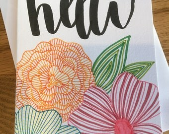 Greeting Card: 'hello'