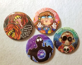 "Custom Hand drawn - 2.25"" Buttons"