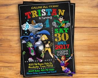 Teen Titans Go / Teen Titans Go Invitation / Teen Titans Go Birthday Invitation / Teen Titans Go Party / Teen Titans Go Printable / Titans