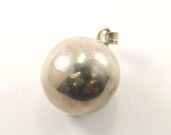 Vintage Mexico Sphere Pendant 925 Sterling Silver PD 2359