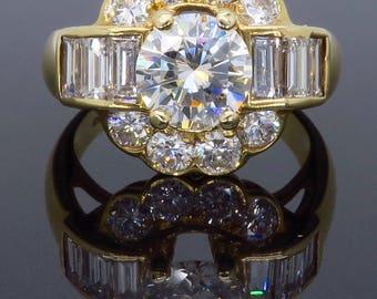 Glamorous 2.20CTW Diamond Ring