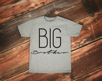Big Brother Tee // Big Bro Shirt // Sibling Shirts // Pregnancy Announcement // Baby Announcement // Announcement Shirt // Big Sister