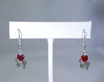 Butterfly Heart Earrings