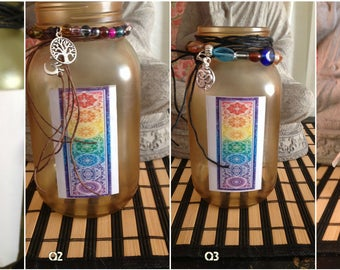 Decorative Jar Candle Holder ~ Quart/Large