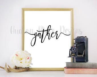 Gather with Swashes SVG file PNG file PDF file Cricut Explore Design Space Silhouette Cameo Wedding Gift Cut File Thanksgiving decor