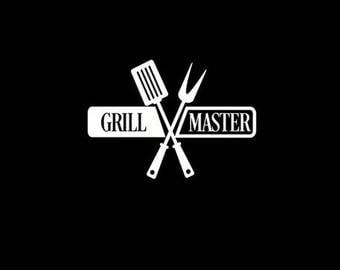 Grill Master Grilling Sticker