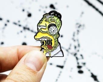 Zombie Homer Pin