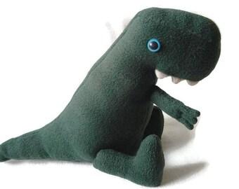 T-rex dinosaur plushie - jurassic, stuffed animal, soft toy, gift , Plushie, green dinosaur, dinosaur, gift