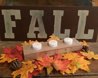 """Rustic Hand Painted """"FALL"""" Sign"""