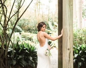 Boho Wedding Dresses, Lace Sheath Wedding Dresses, Lace Wedding Dresses, Wedding Dress, Bohemian Lace Wedding Dress, Bridal Dresses. #D06B
