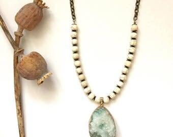 Quartz & Howlite Necklace