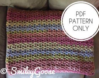 Chunky Crochet Blanket Pattern, Hadley Blanket, Easy Crochet Blanket Pattern, Crochet Afghan Pattern, Throw Blanket,Beginner Crochet Pattern