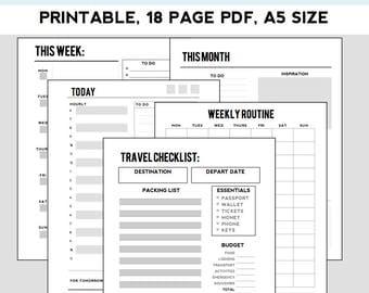 Basic Planner Kit (a5 size)