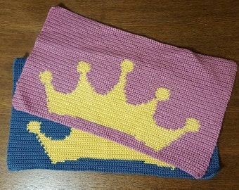 Pet Placemat -Crown design -Crochet for Cat/Dog