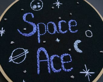Space Ace Embroidery Hoop