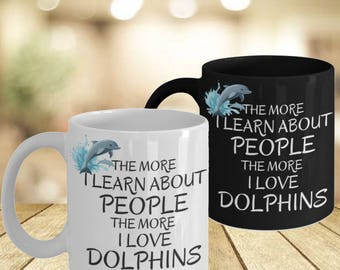 Dolphin Love Mugs His Hers- Good Vibes Only Personal Mugs- Best Gift Coworker- New Job Gift For Mentor- Boyfriend Gift Box Campfire Mug