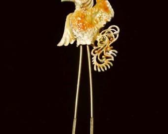 Lind Gal Dodo bird signed LG enamel brooch