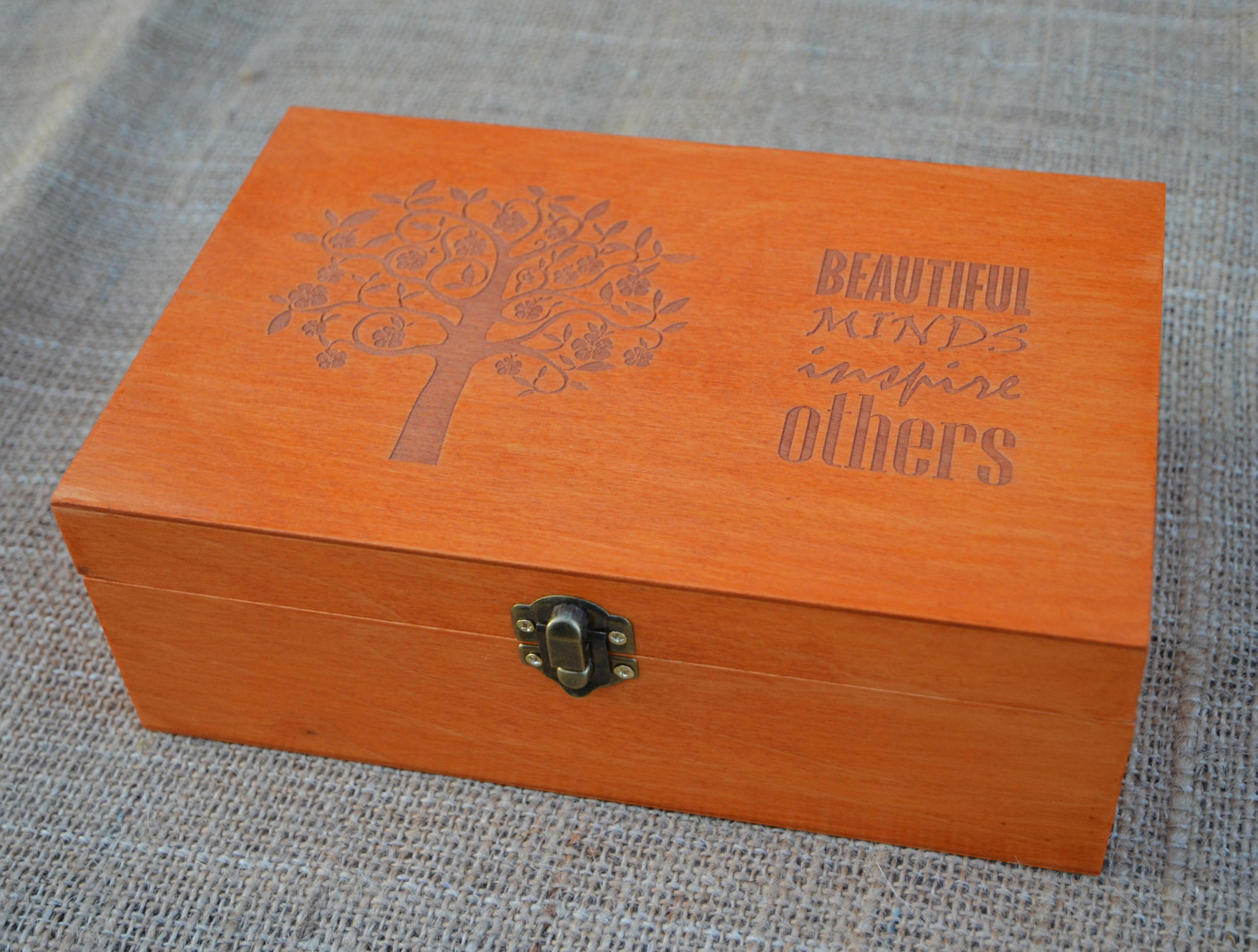 Tea Box, Personalized Tea Box, Wood Tea Box, Custom Tea Storage Chest 6