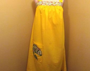Vintage yellow summer sack dress