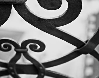 Design Munich/ Germany/ Iron/ Railing/ Black & White/ Photography/ Travel Photography/ Eleventh Planet Art /Framed Print/Home Decor/Wall Art