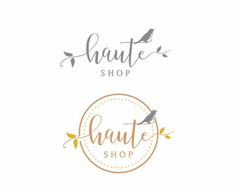 Logo design, Custom logo design, Circle Logo, Shop logo Boutique logo, Custom logo, Photography Logos, Kids logo, Handmade logo, Bird logo