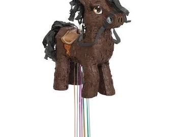 Brown Pony Party Pinata/ Horse Party Pinata/ Pony Pinata/ Western Party Decor