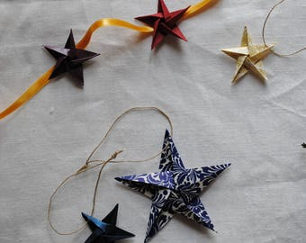 Origami Stars for Christmas tree/decoration for tree/hand folded origami decoration/Christmas garland