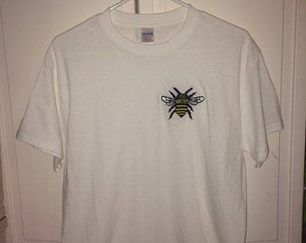 Hand Embroidered Bee T-Shirt