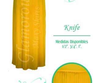 Knife Pleated Maxi Skirt/ Plisado Cuchilla