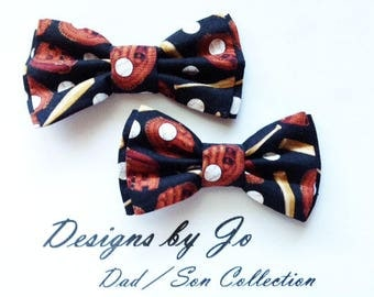 Dad and Son Bow Ties, Baseball Bow Tie, Father Son Bow Ties, Mens Bow Tie, Groomsmen Bow Tie, Ring Bearer Bow Tie, Boys Bow Tie  DS692