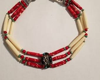 Tribal Choker Necklace w/Free Shipping