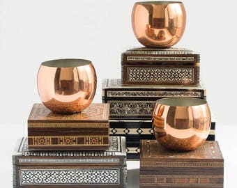 Copper Mug (One) Roly Poly Cups Moskow Mules / Barware MCM Bar Cart Accessories Succulent Planter / Votives Holder