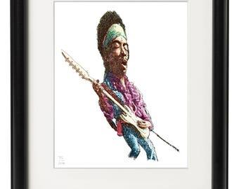 Jimi Hendrix ( 8x10 Print )