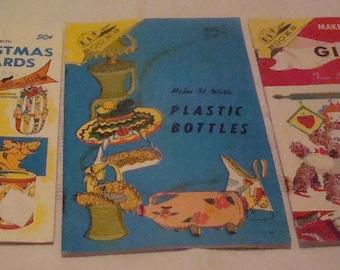 3 Vintage Craft Books, 1960's