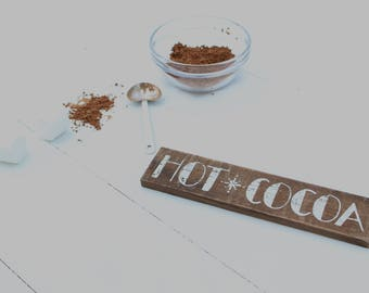 Hot Cocoa Wooden Sign