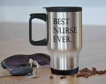 Nurse Travel Mug, Nurse Mug, Nurse Graduation, Nurse Appreciation, Nursing School Grad, Male Nurse Mug, Gift for Nurse, Nursing Student Gift
