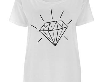 Oversized Diamond T-Shirt