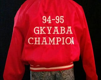 Vintage Red Bomber jacket