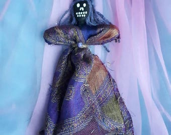 Voodoo Doll, Authentic, original one of a kind, Handmade, New Orleans inspired, spiritual healing, psychic sense, Poppet, art doll