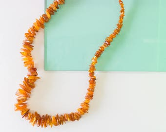 Lithuanian Baltic Amber Vintage Necklace