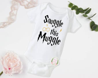 Snuggle this Muggle, Harry Potter, Harry Potter fan, Harry Potter bodysuit, Harry Potter shirt, Wizard in training, SEE Item Details