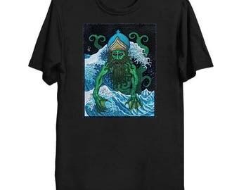 Father Dagon - Cthulhu Shirt HP Lovecraft T-Shirt Cthulhu Tee Call of Cthulhu Great Old One Shirt