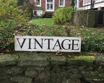 """Rustic Vintage sign 32.5"""" x 7.5"""" handcrafted, hand painted, modern farmhouse, entryway, kitchen"""