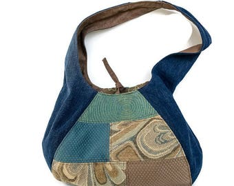 Boho Purse, Hobo Purse, Boho Bag, Hobo Bag, Upcycled Bag, Upholstery Bag, Upholstery Purse, Reversible Bag, Shoulder Bag, Reversible Hobo