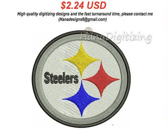 Pittsbugh Steelers Logo Machine Embroidery Design 4 Sizes