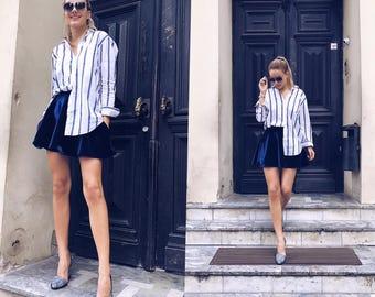 High waisted skirt, skirt with pockets, Flared skirt, Circle skirt, Knee length skirt, Short skirt, Midi skirt, Handmade skirt, Custom skirt