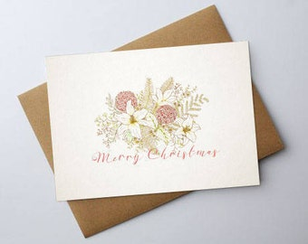 Bouquet Christmas Card